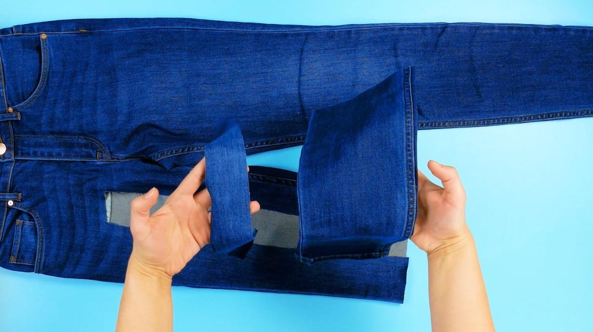 corte a calça jeans