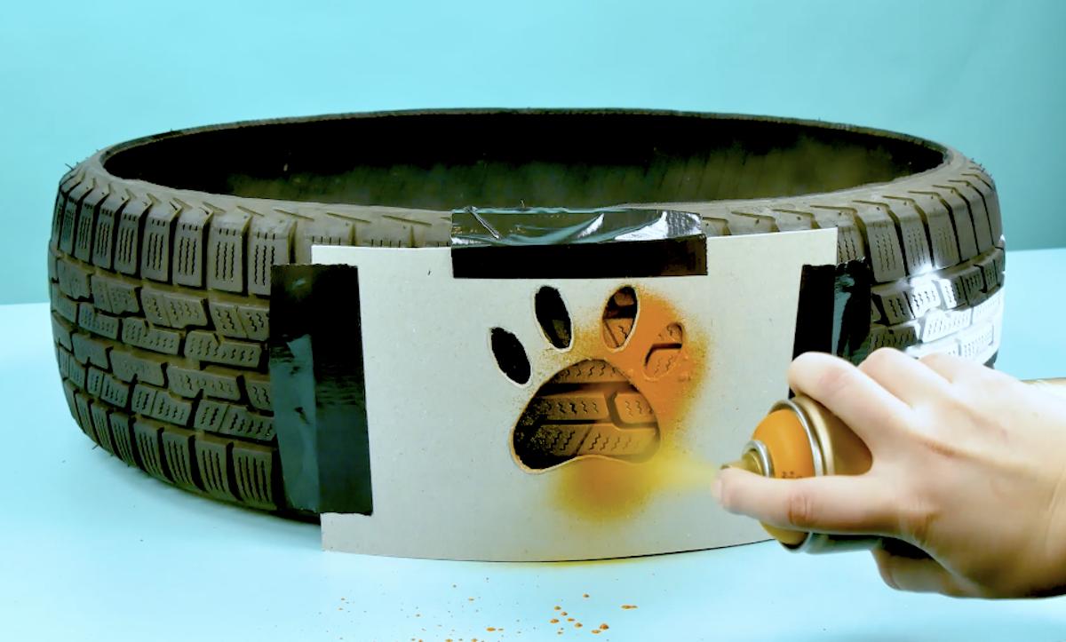 pneu com moldes