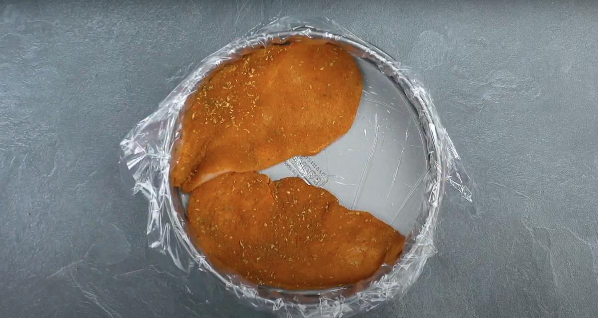 peito de frango em forma