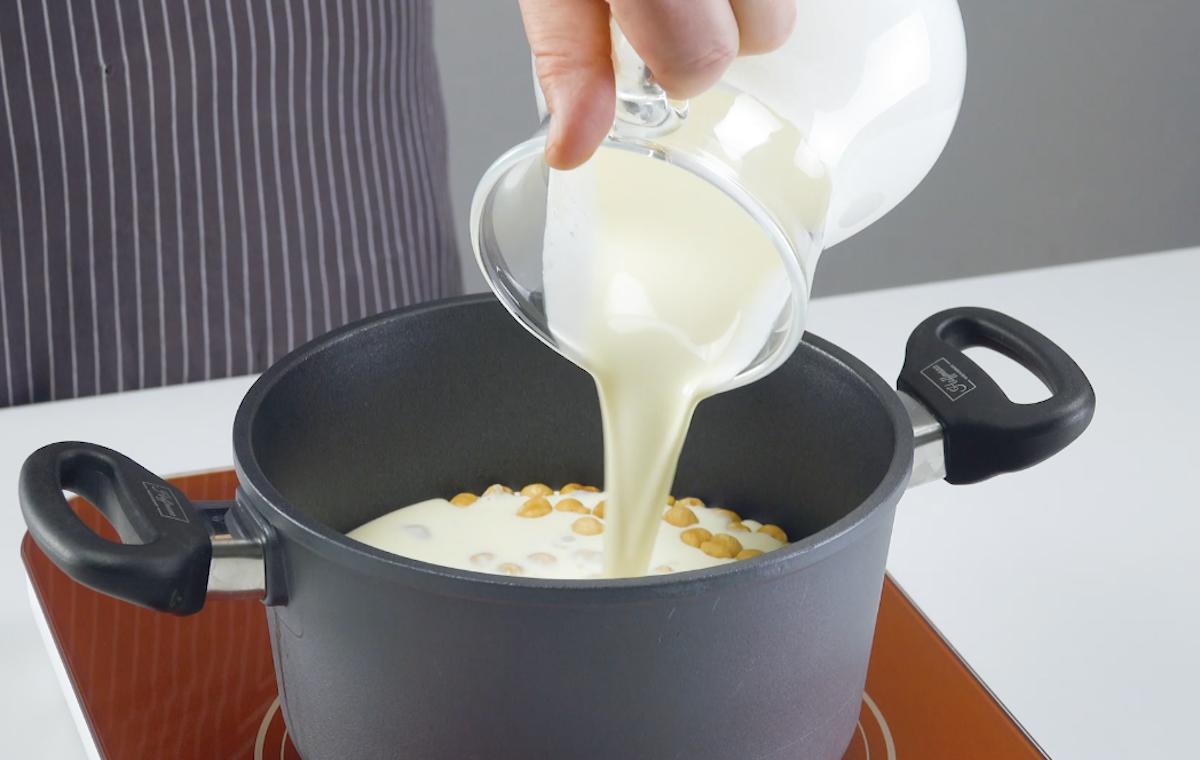 creme de leite com avelãs