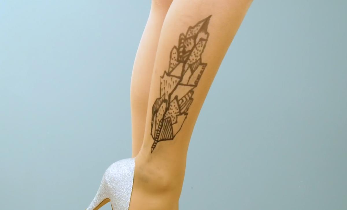 desenho na meia