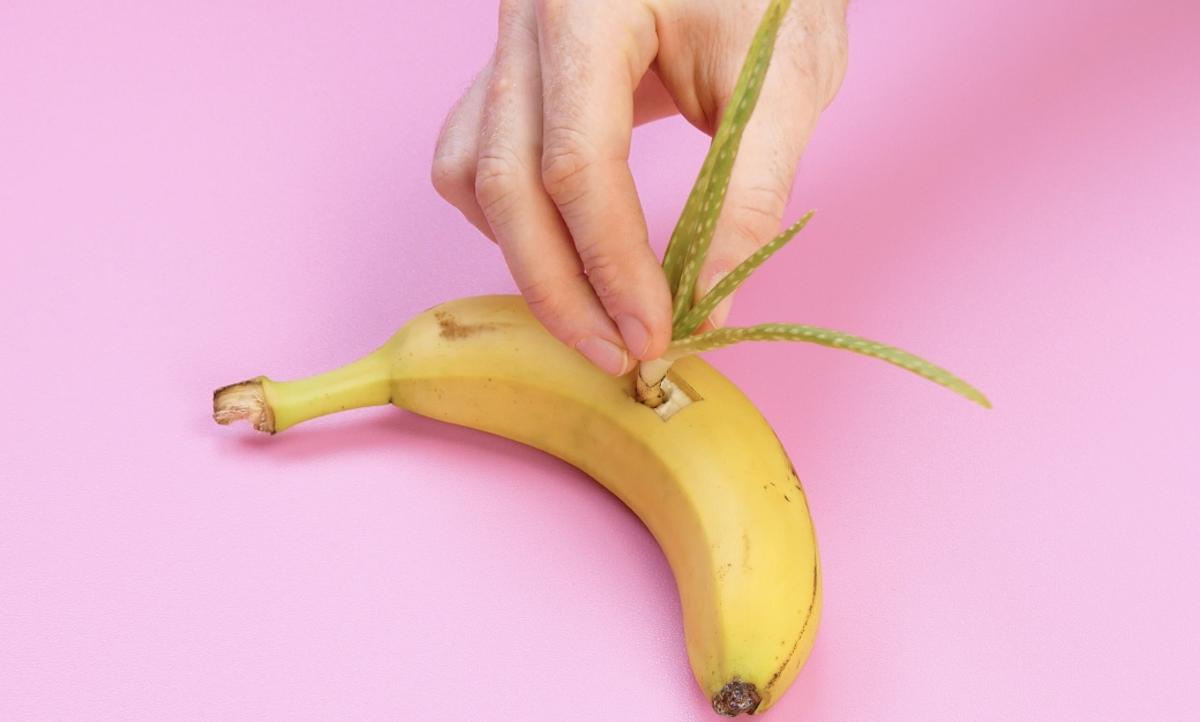 banana e aloe vera