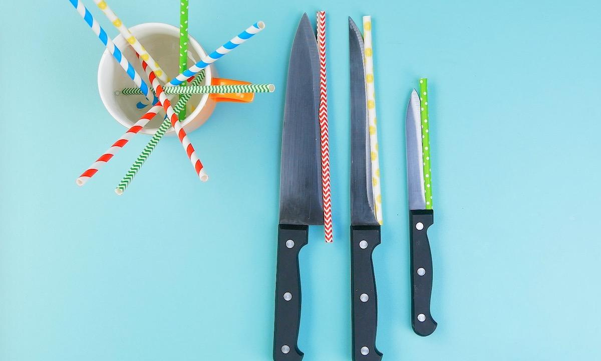 Guardar facas com segurança