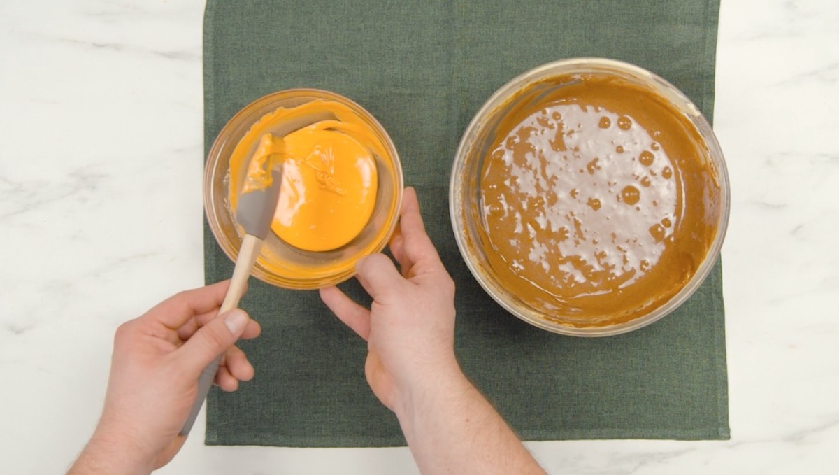 faça as massas de clara e gema