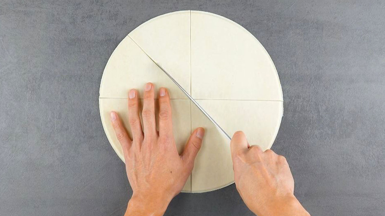 corte a massa redonda