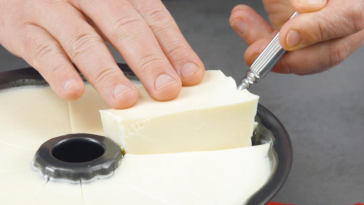 retire as peças de gelatina