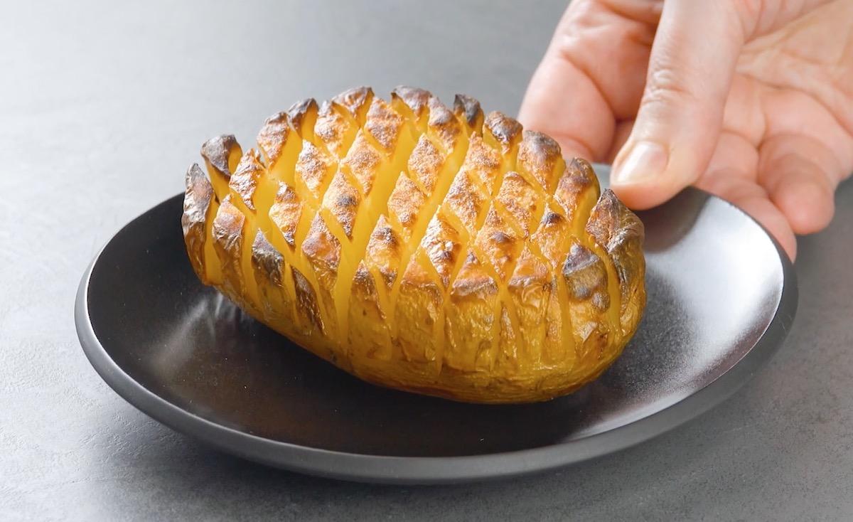batata cortada e assada