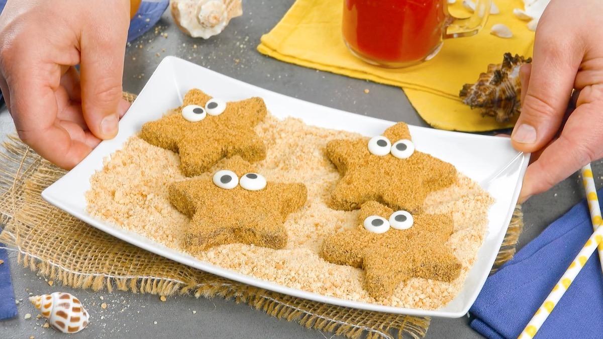 biscoitos em forma de estrela do mar