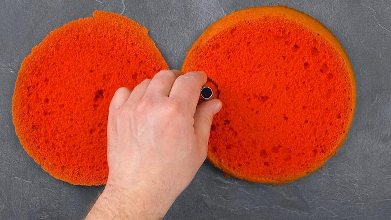 corte círculos de bolo