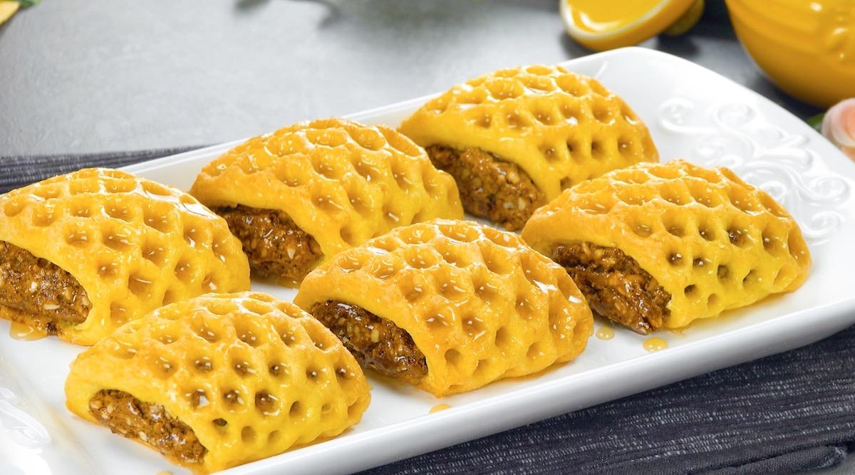 doce de mel com amêndoas