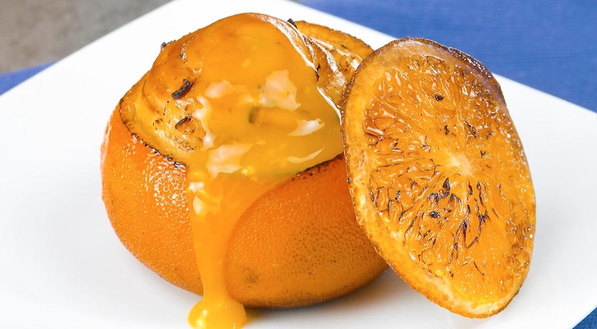 laranja com massa assada