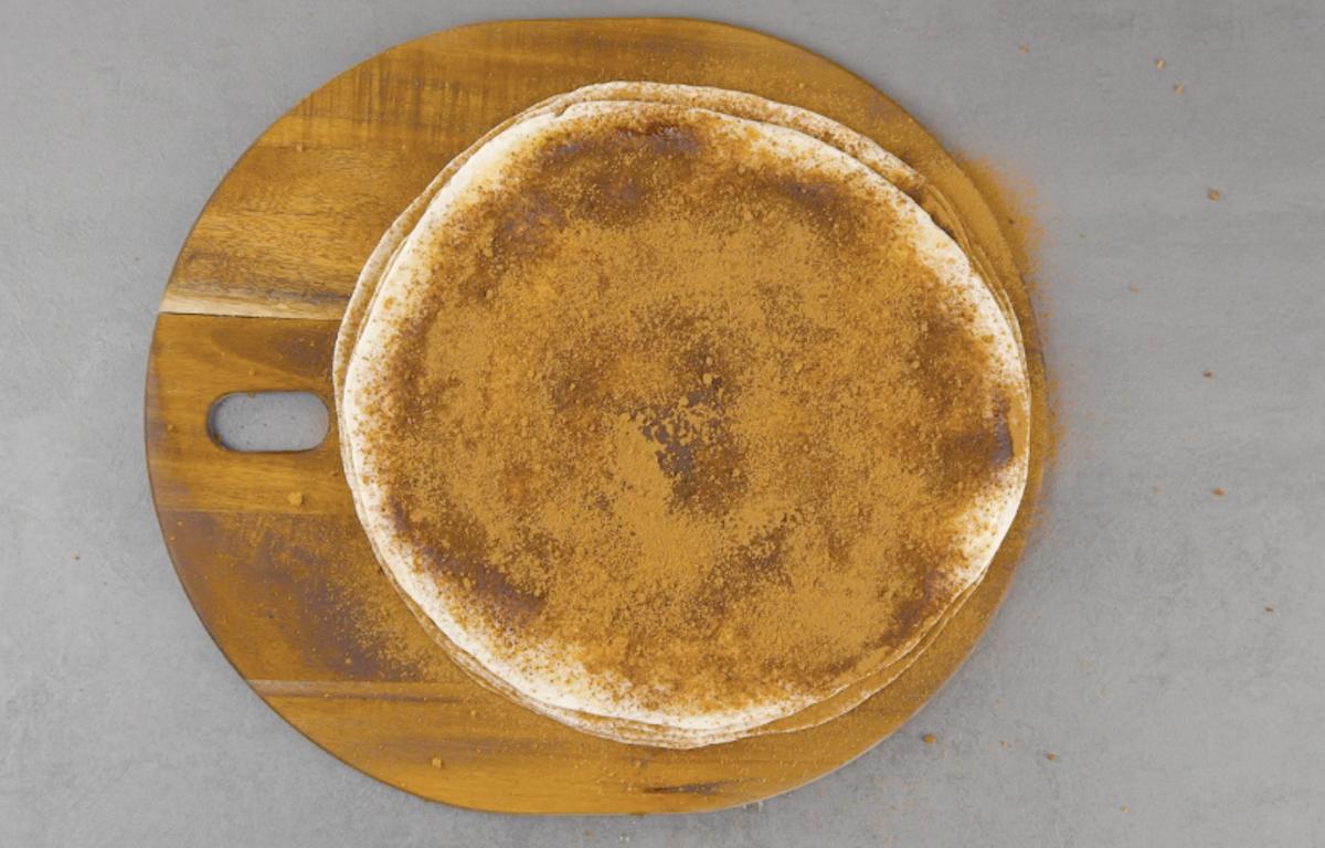 tortillas com açúcar e canela