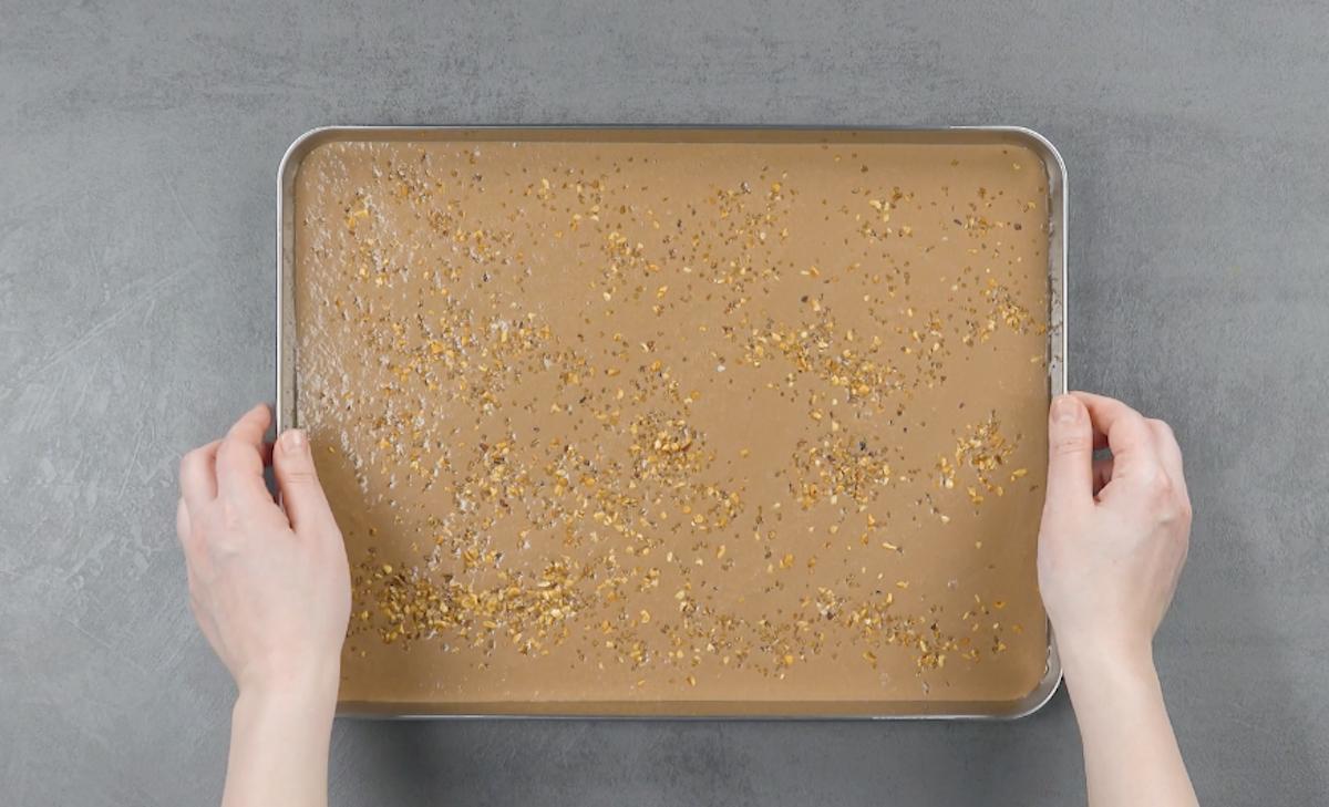 faça a massa do sorvete de banana e nutella e congele