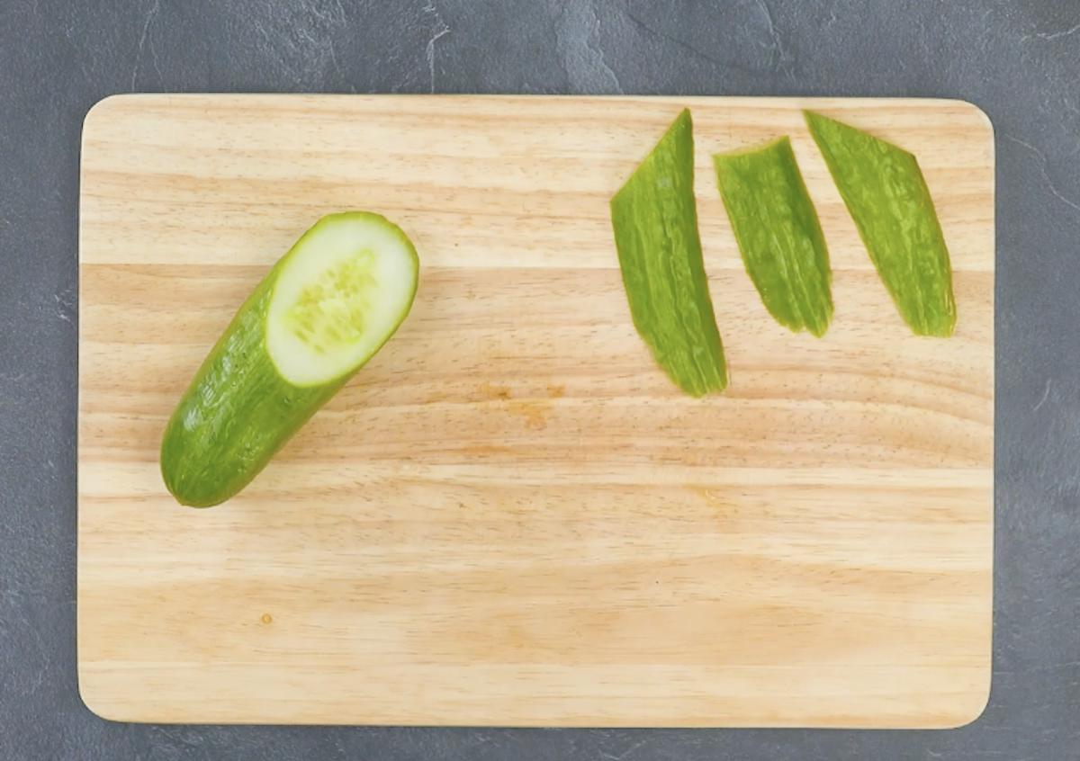 couper le concombre