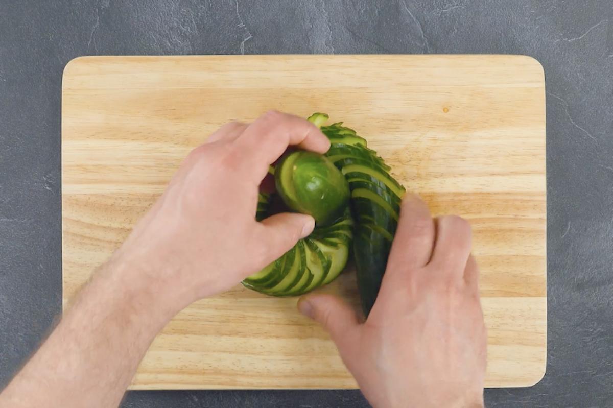 enrouler le concombre