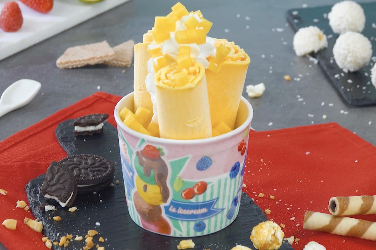 sorvete de manga com coco
