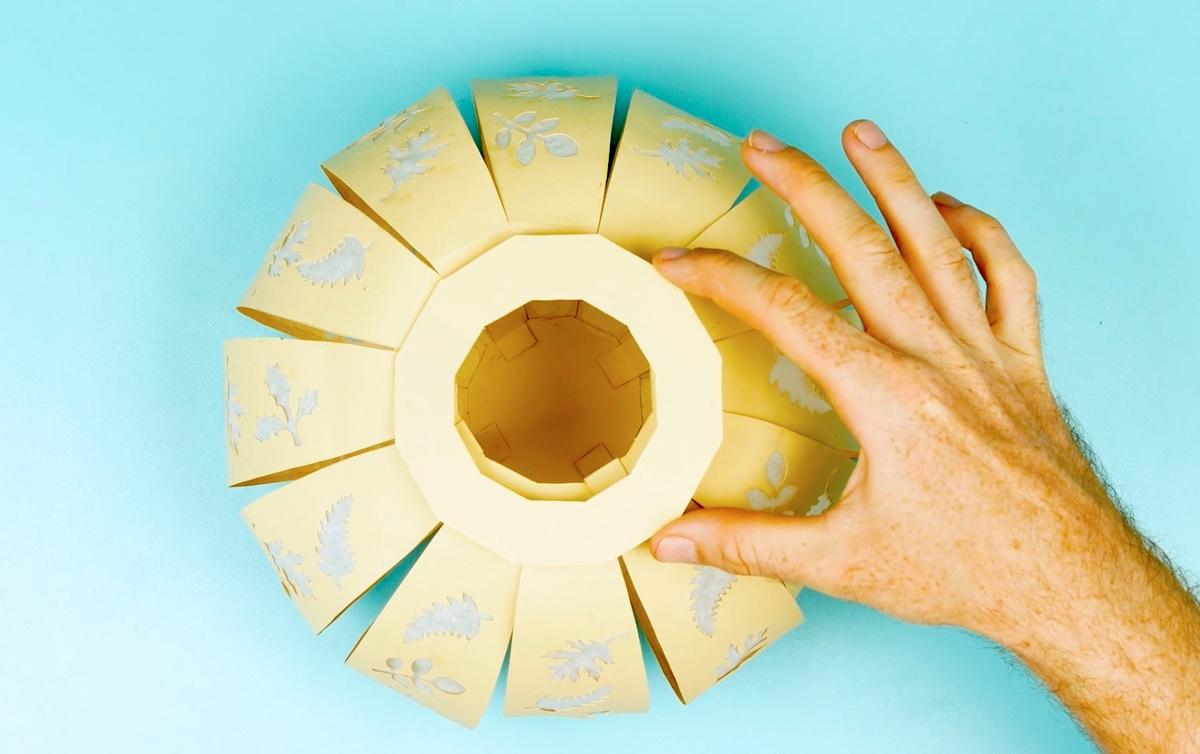 anel de cartolina