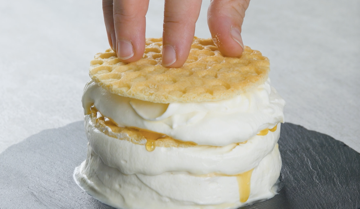 biscoito, mel, mascarpone