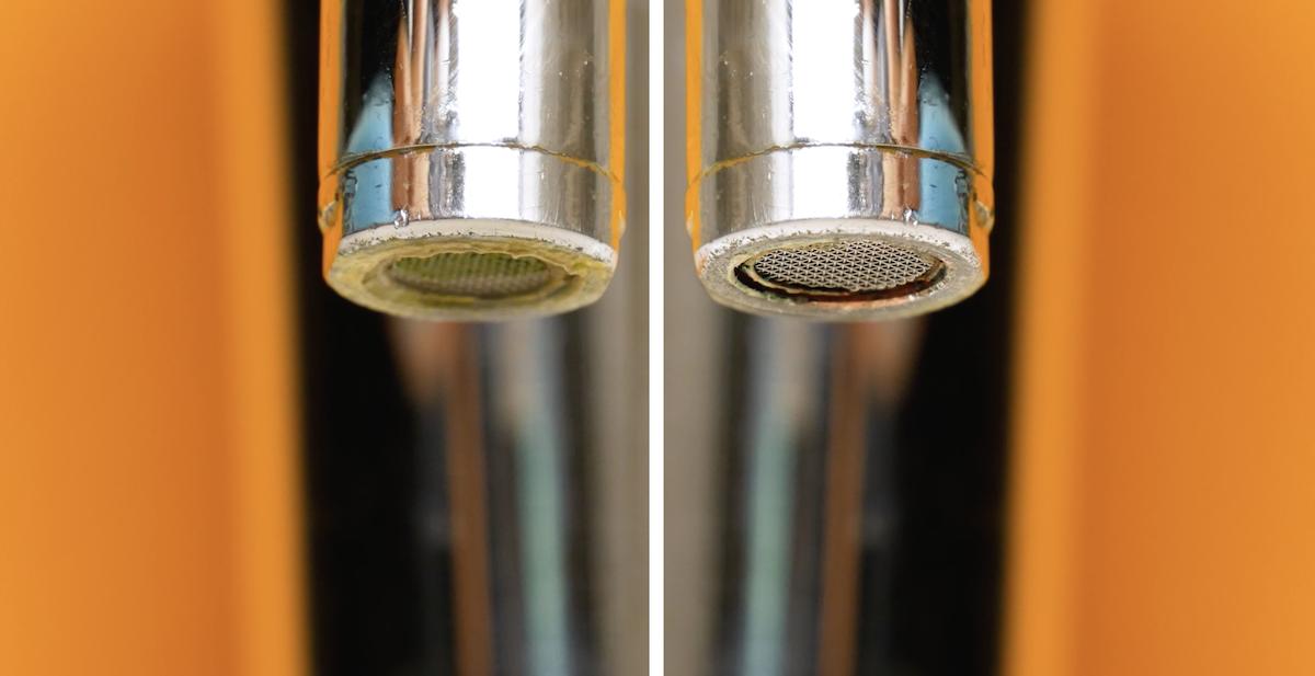 limpar torneira calcificada