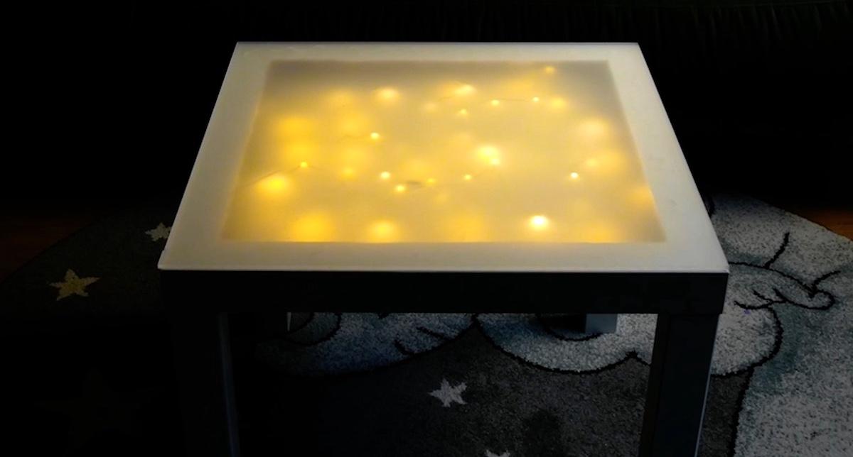 mesa iluminada