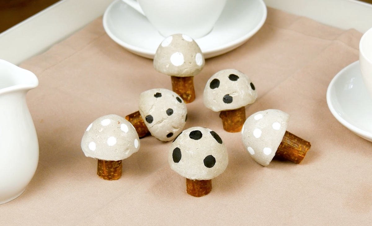 Cogumelos de cimento